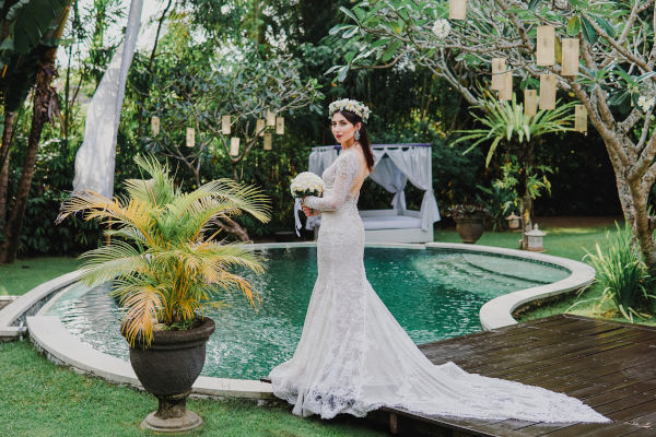 Getting married in Bali.