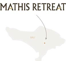 Mathis Retreat location on a map of Bali.